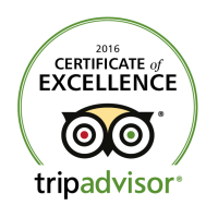TripAdvisor awards the BLUE WHALE INN the 2016 Certificate of Excellence.